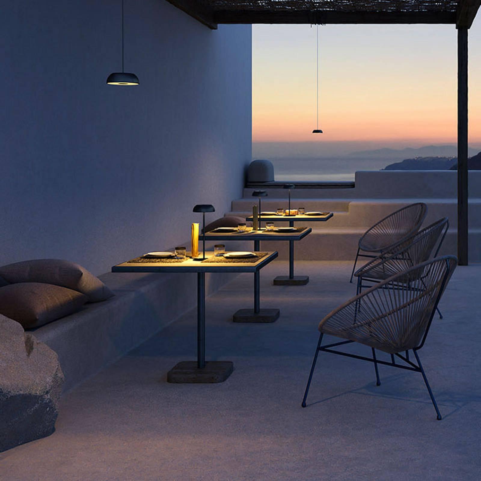 Axolight Float LED design-tafellamp, zwart