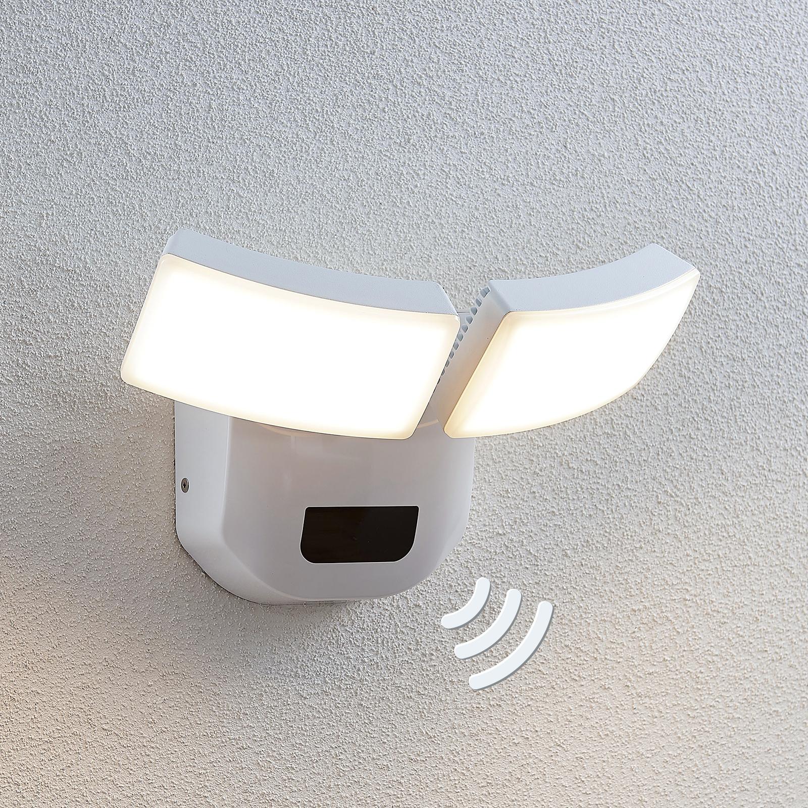 Applique d'extérieur LED Nikias avec capteur, 2l