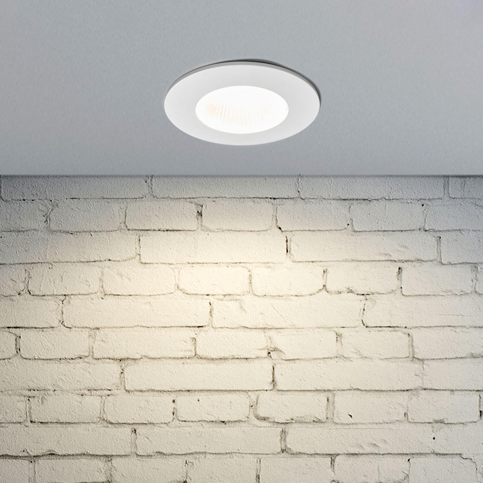 Reflektor wpuszczany LED Kamilla, biały, IP65, 11W