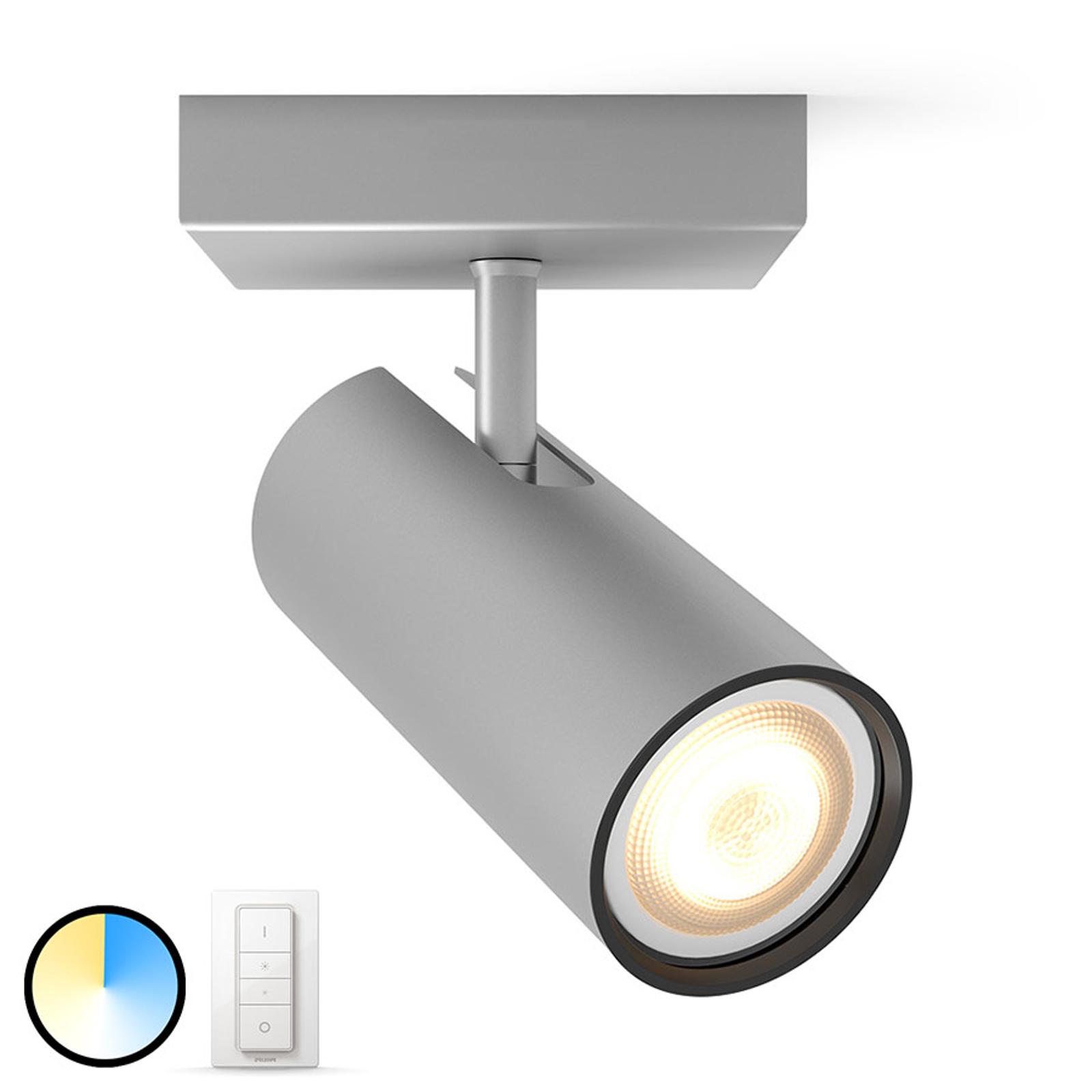 Philips Hue Buratto LED-Spot alu 1fl Dimmschalter
