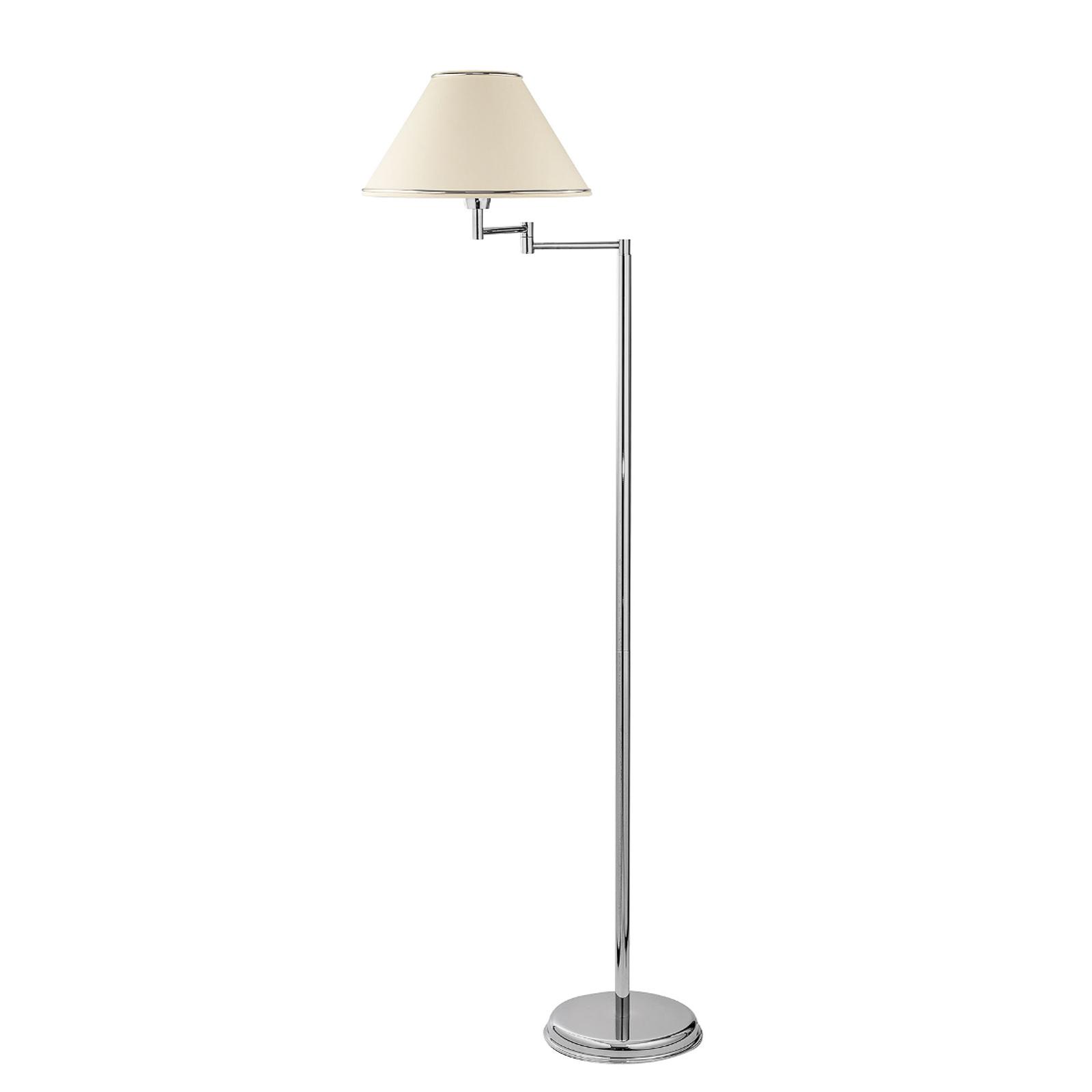 Lampadaire London chromé/crème 1 lampe inclinable
