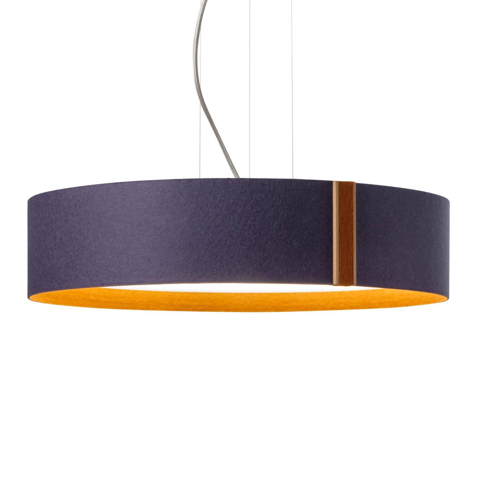 Suspension LED LARAfelt, Ø55cm, indigo/cannelle