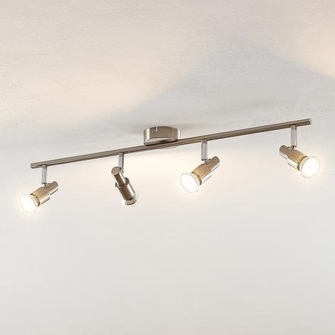 ELC Farida lámpara LED de techo, níquel, 4 focos