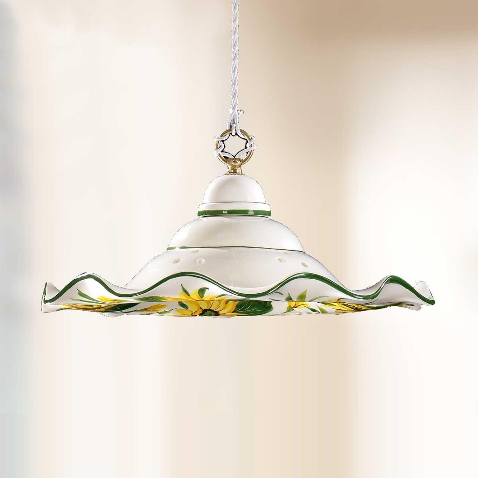 Lampa wisząca GIRASOLA w stylu dworkowym 41cm