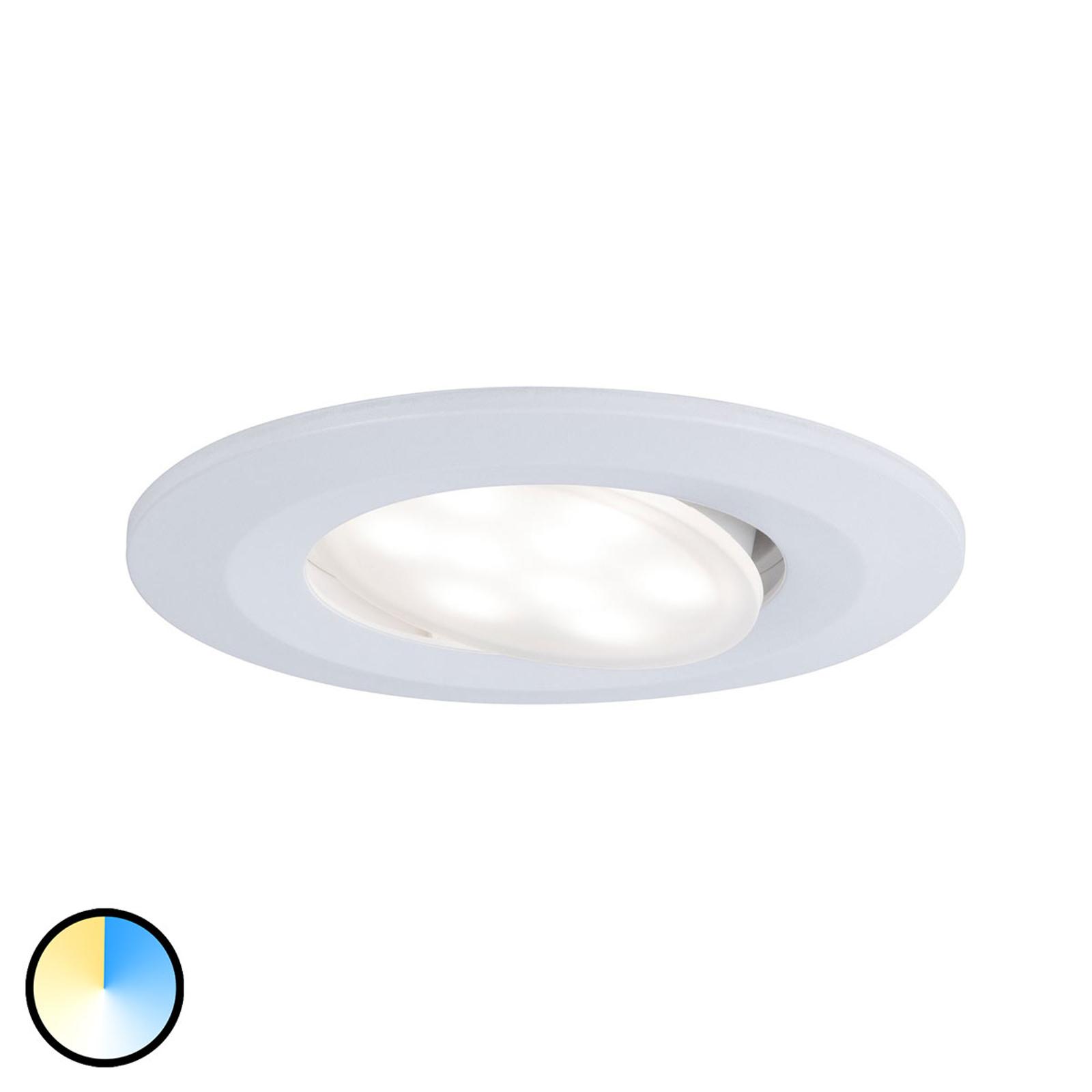 Paulmann LED-downlight Calla hvit fargevekslende