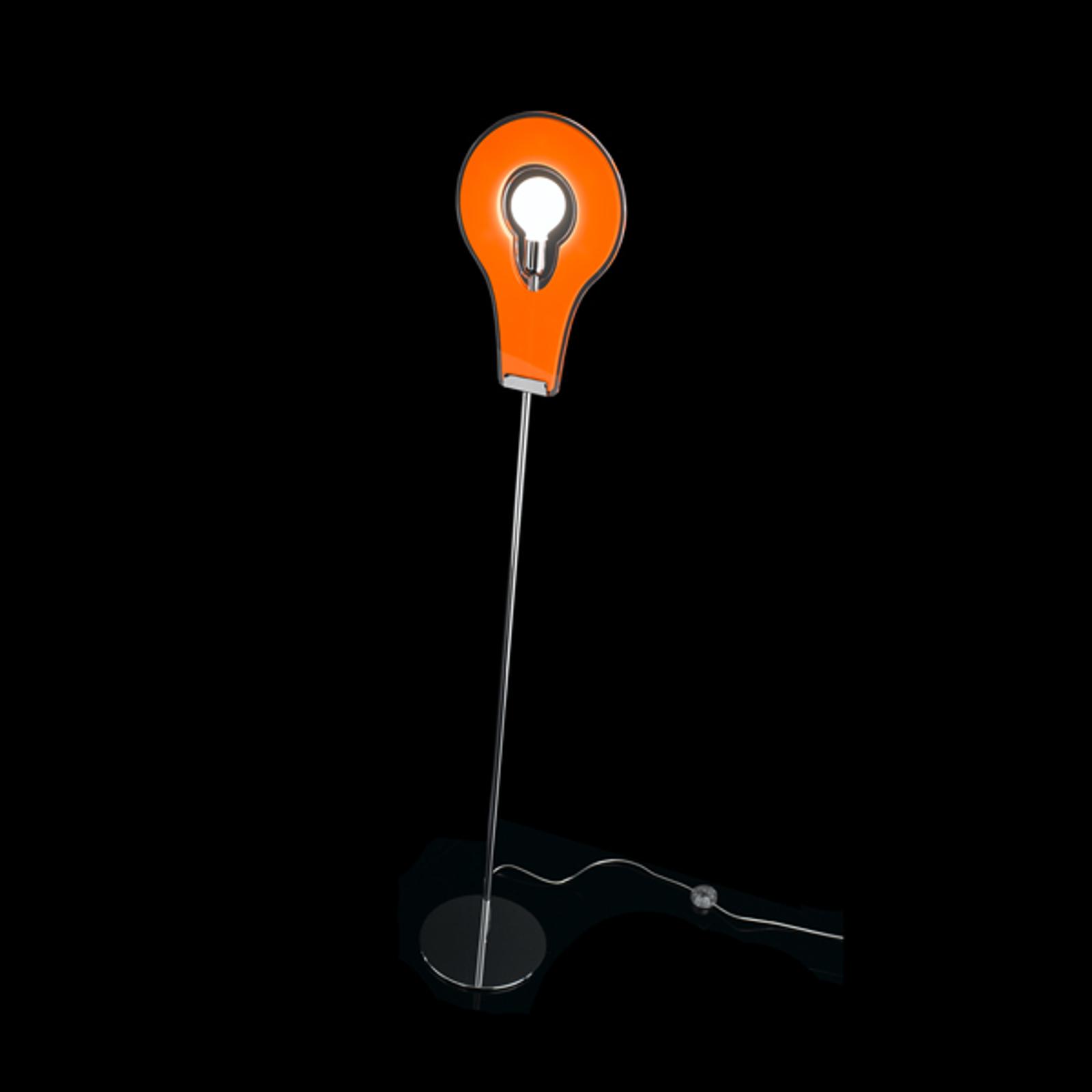 Wyjątkowa lampa stojąca Flat pomarańczowa