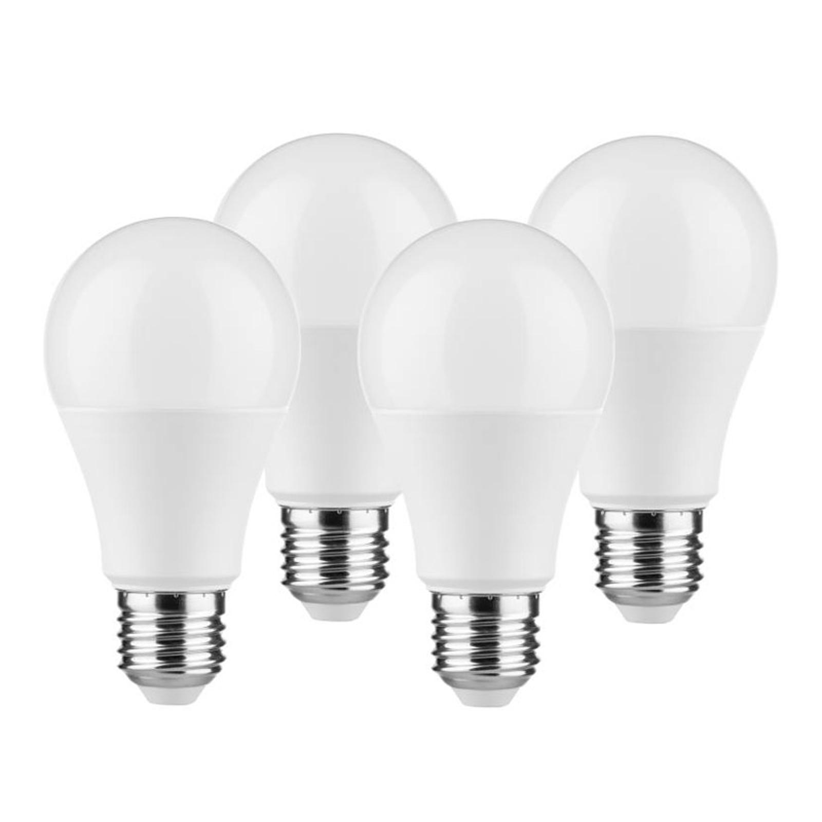 Lampadina LED E27 A60 9W 2.700K satinata set 3+1