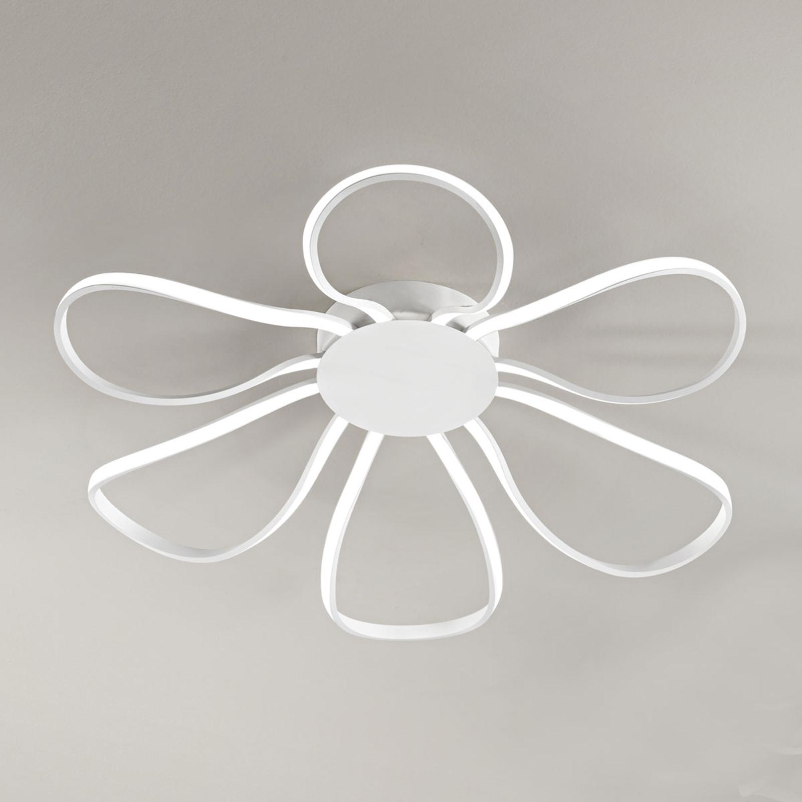 LED-taklampe Blossom, Ø 62 cm