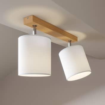 Foco de techo Corralee, blanco, 2 luces
