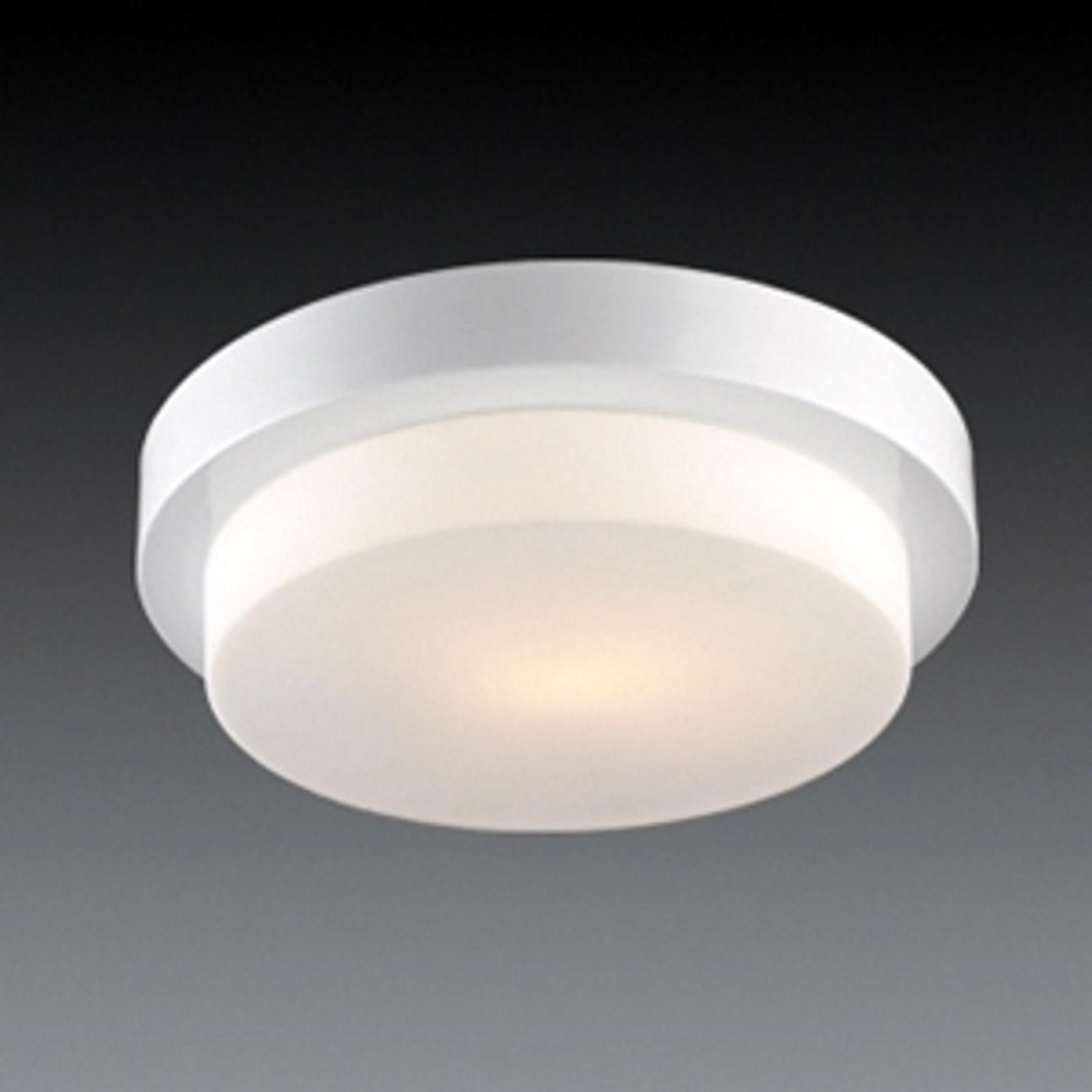 Eenvoudige plafondlamp Laiko, nikkel, gesatineerd