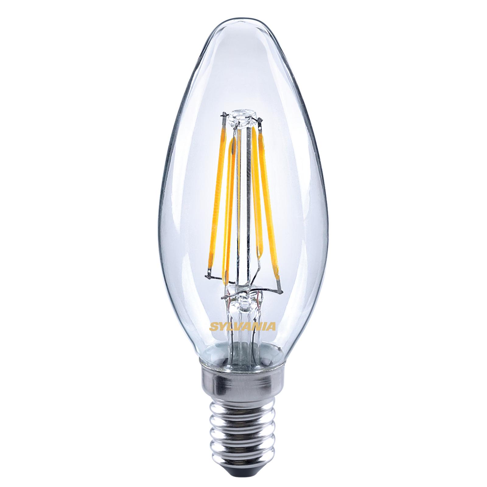 LED-Kerzenlampe E14 ToLEDo 4,5W 827 klar