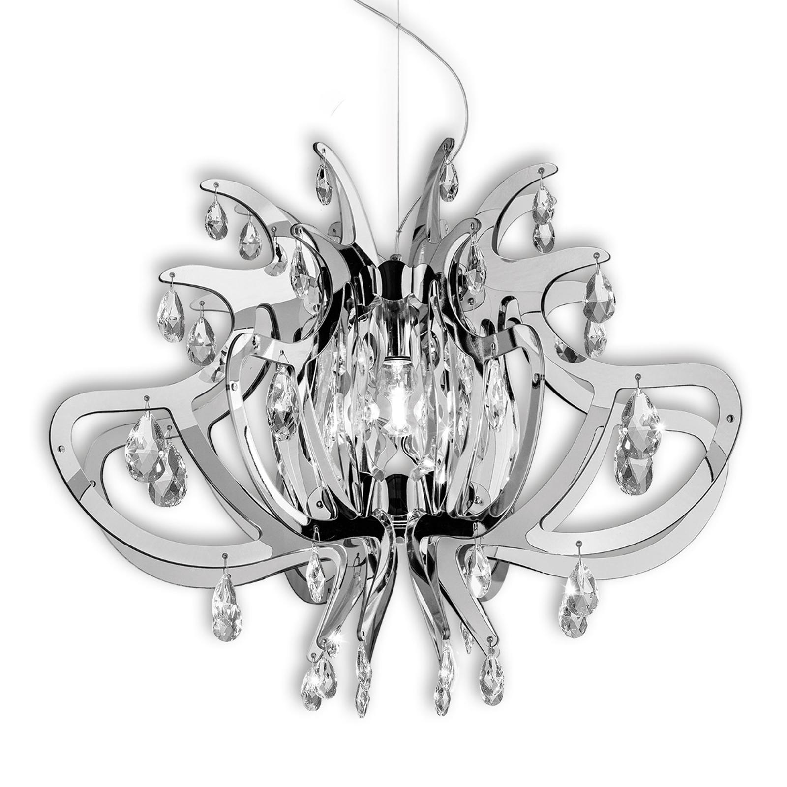 LILLIBET - designerska lampa wisząca, srebrna