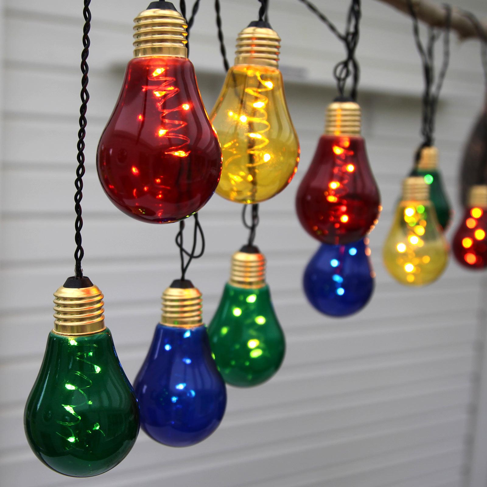 Best Season Glow LED světelný řetěz s 10 barevnými žárovkami