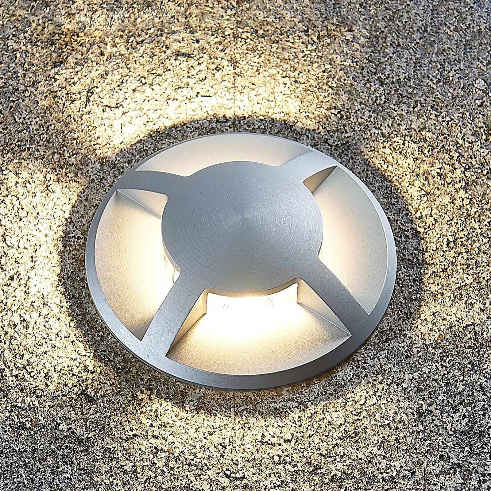 Spot encastrable dans le sol Edwina en aluminium