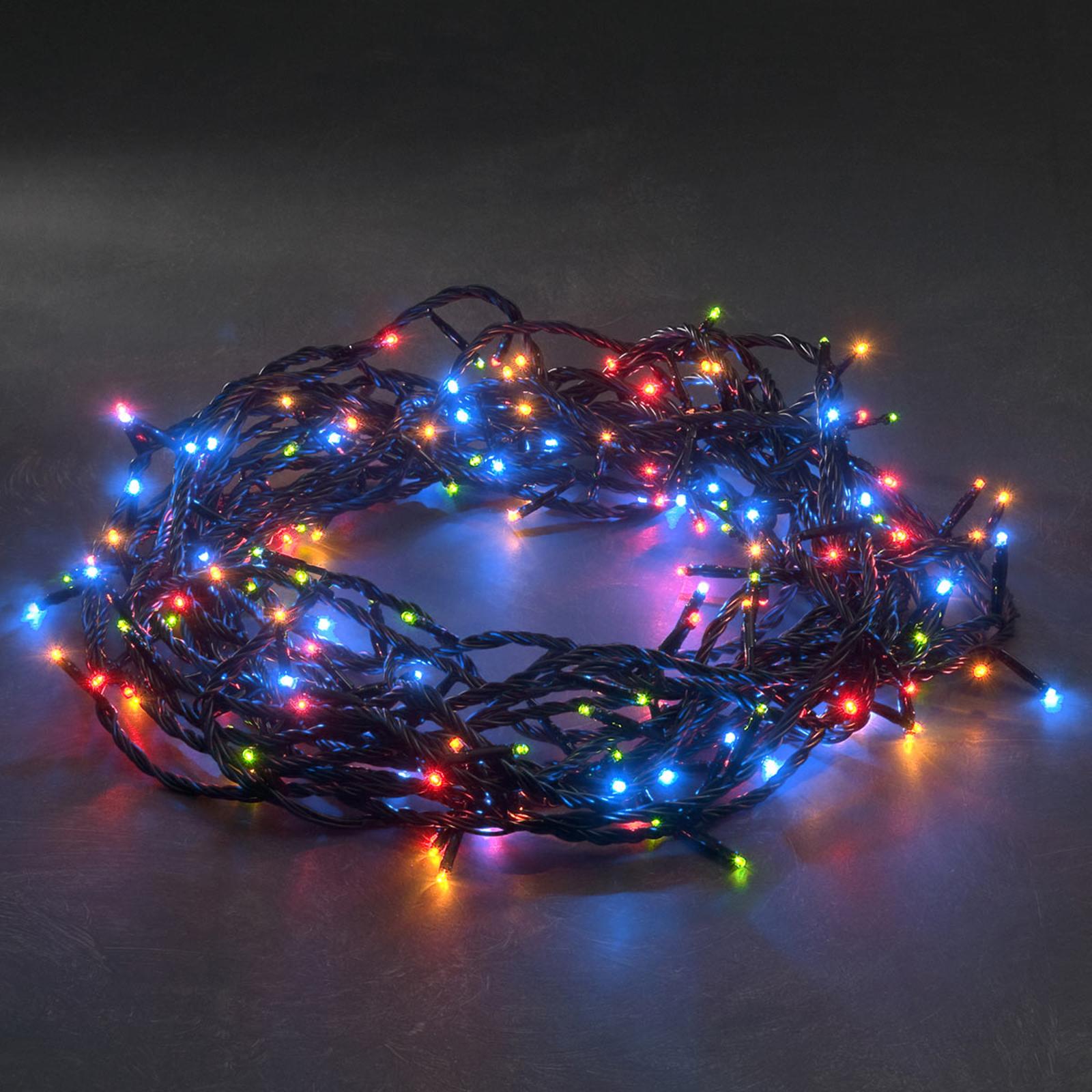 Fargerikt LED-mikrolyskjede med 180 lys