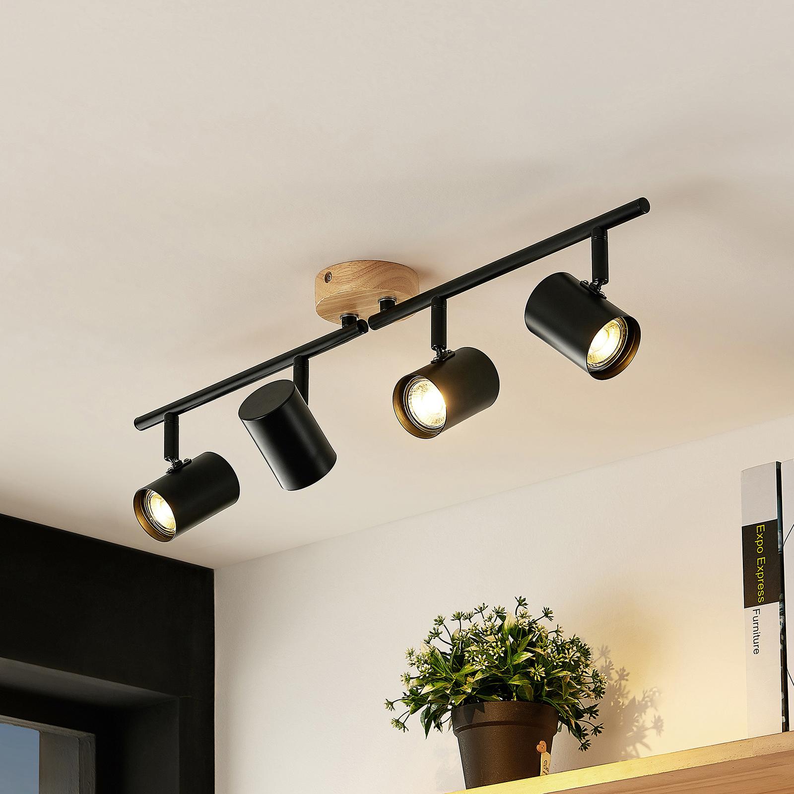 Lindby Xiomara LED-Deckenleuchte, vierflammig