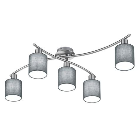 Taklampe Garda - 5 lyskilder med grå skjermer