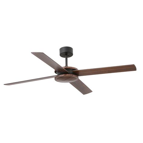 Ventilateur de plafond Polea, bois foncé/noir