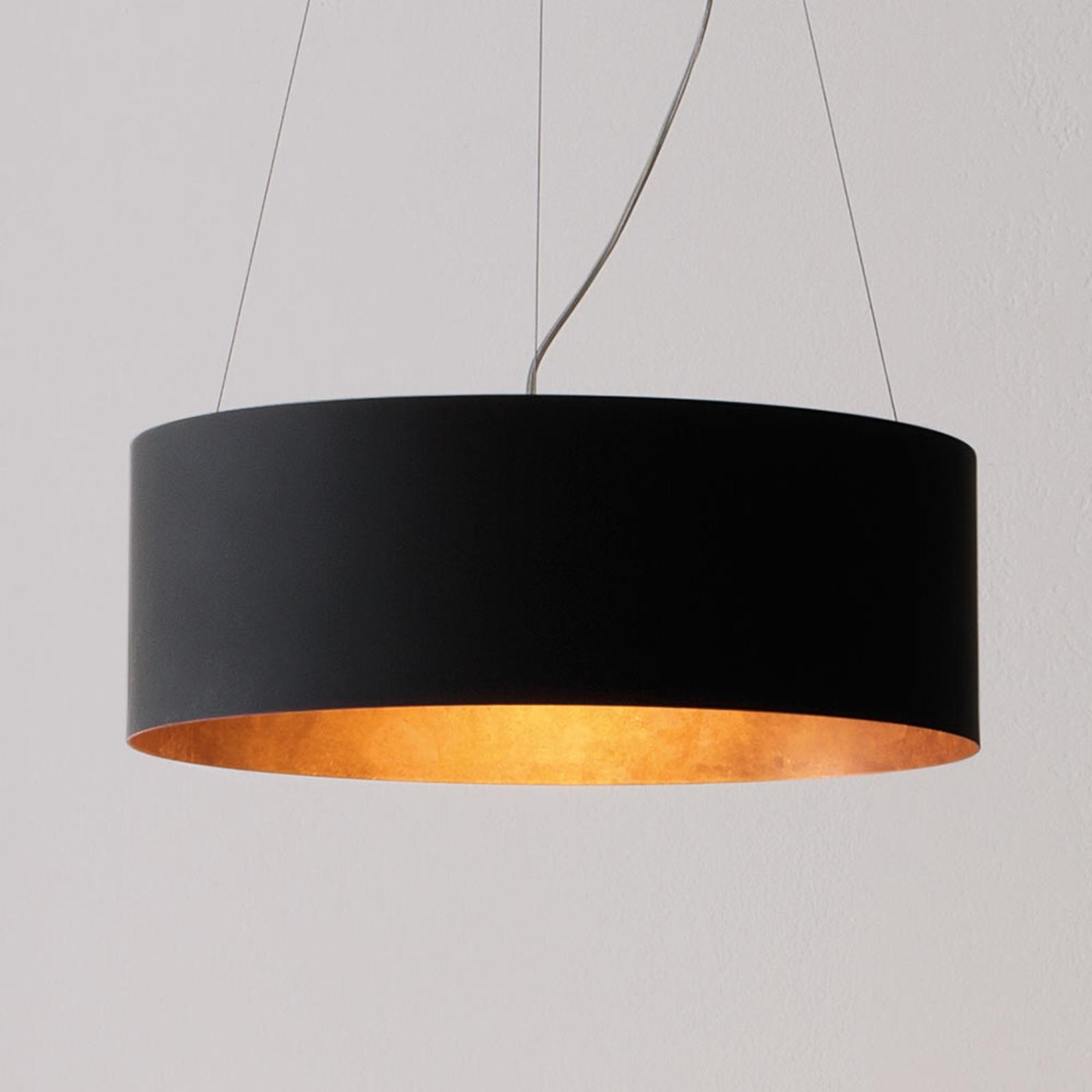 ICONE Olimpia LED-Hängeleuchte, schwarz-kupfer
