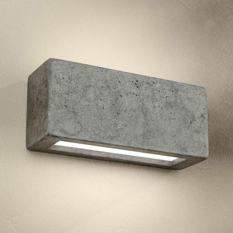 Odlana z betonu lampa ścienna Proof