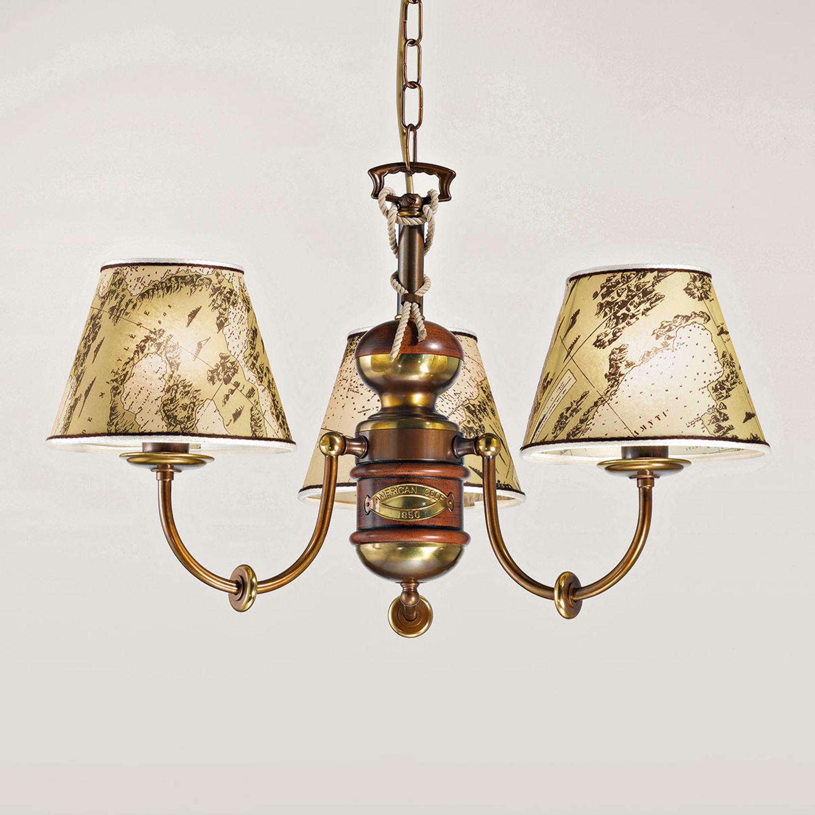 Lustre imposant Nautica 3 lampes