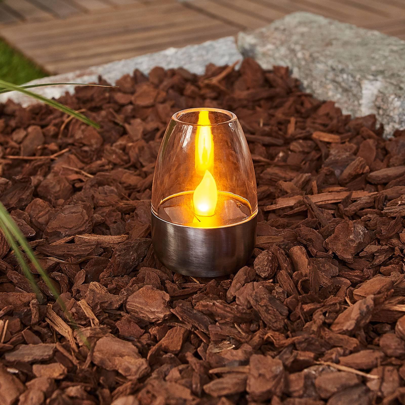 """*NEU*: LED-Tischleuchte """"Pedas"""" aus Edelstahl, 10 Stück, solar"""