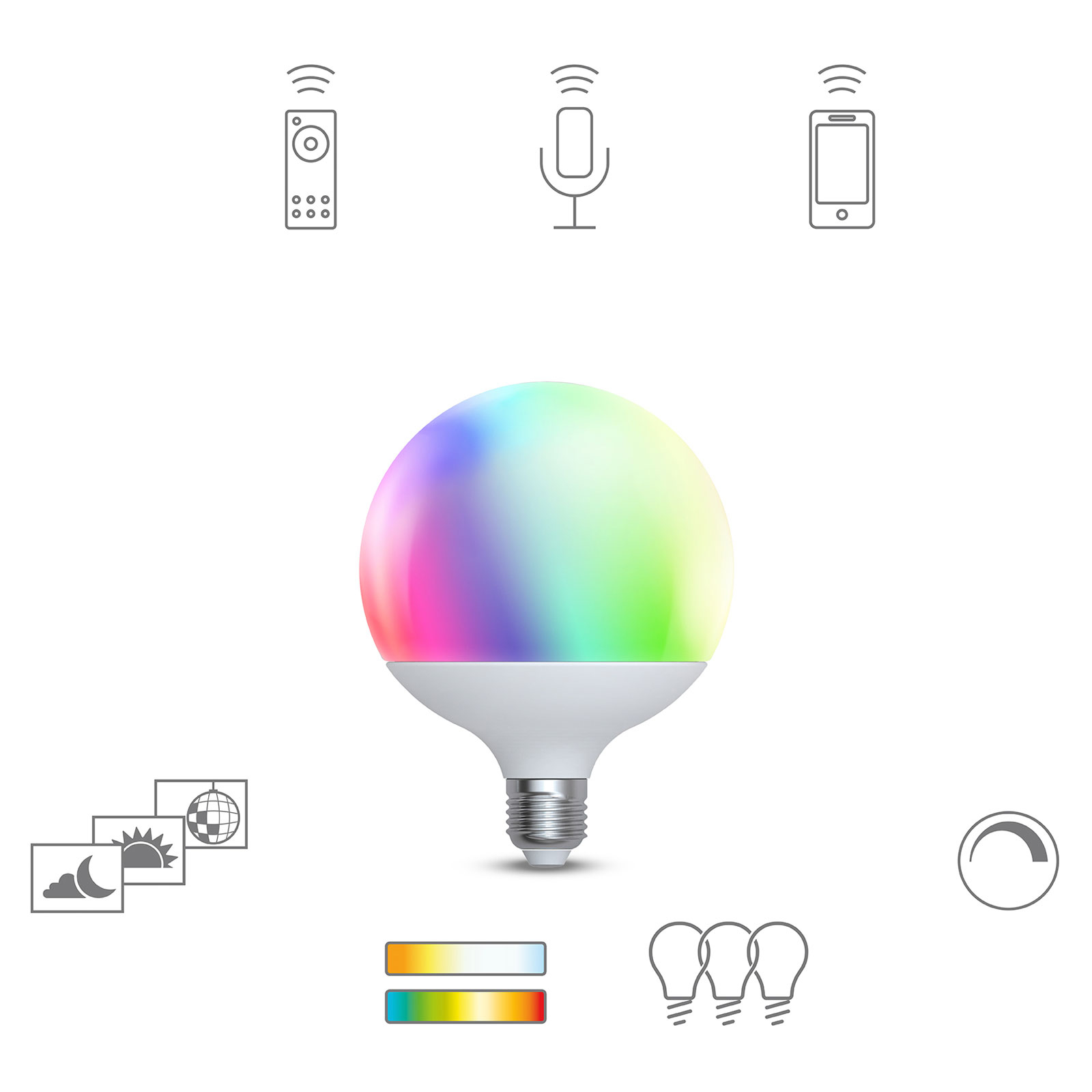 Müller Licht tint LED-globe G120 E27 15 W