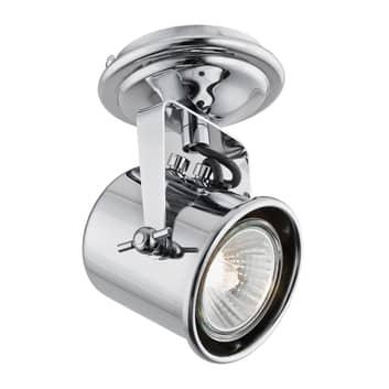 Spot pour plafond Canico à 1 lampe, chromé