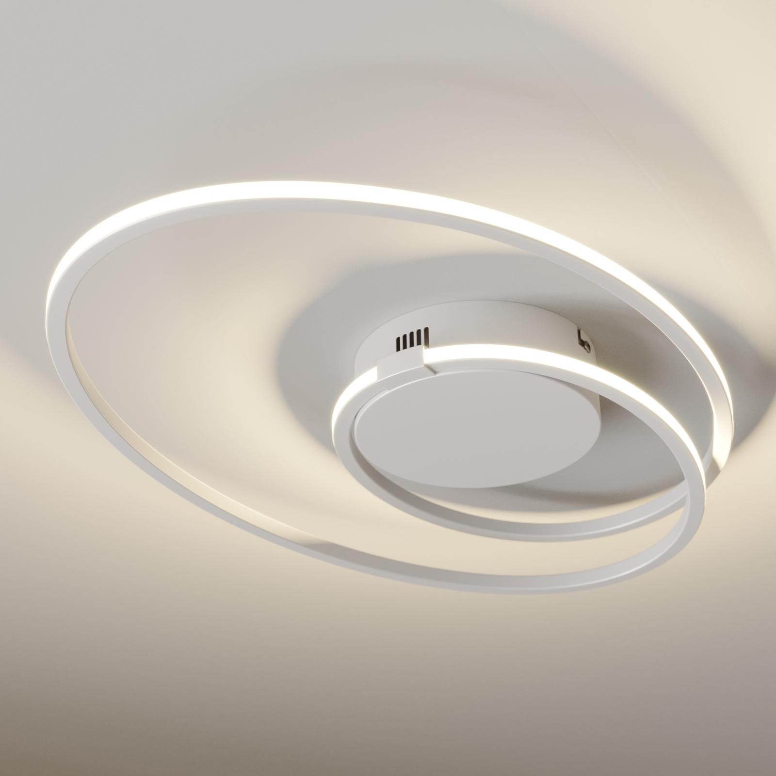 Lindby Xenias LED-taklampe, hvit, 49 x 30 cm