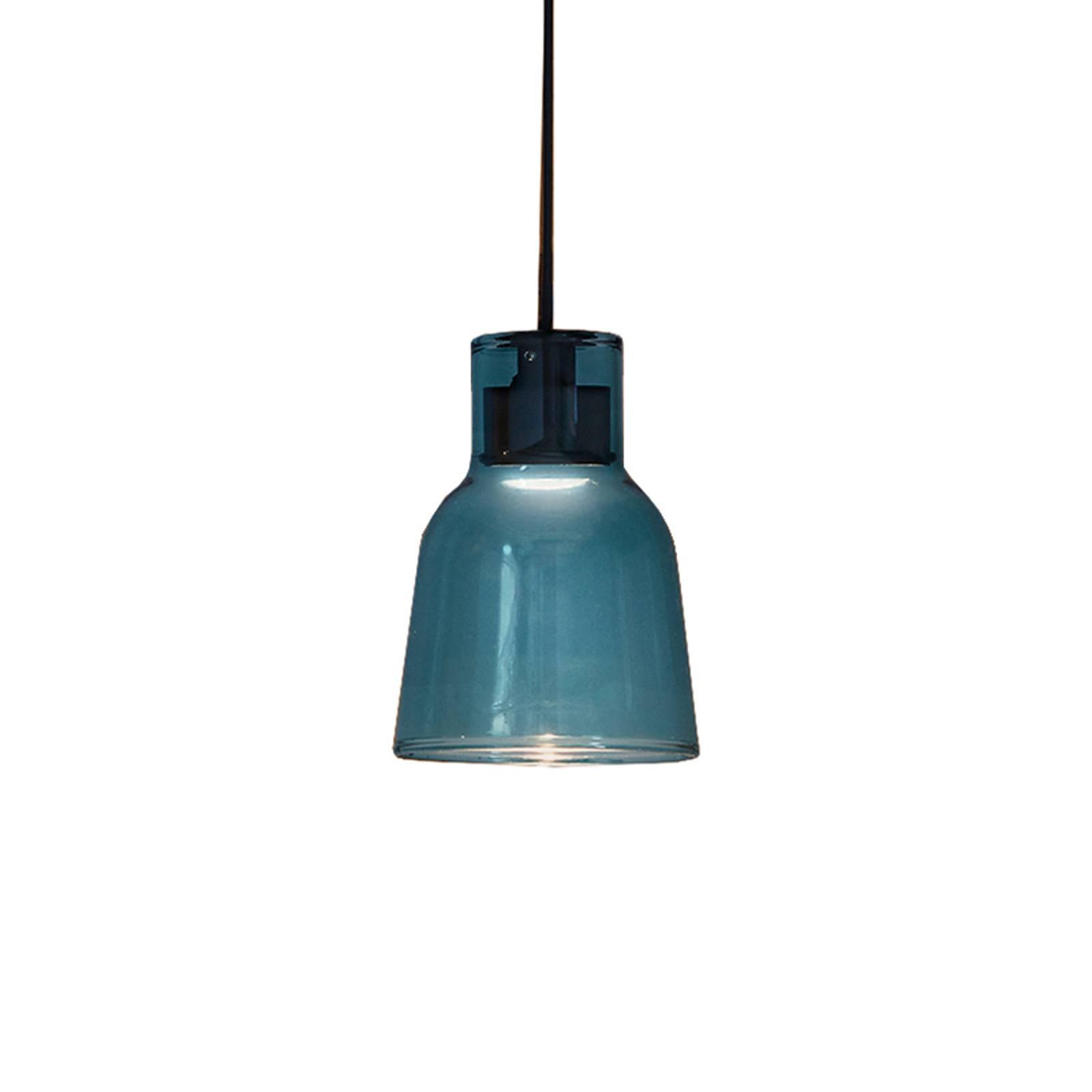 Bover Drip S/01L LED-Hängeleuchte aus Glas, blau