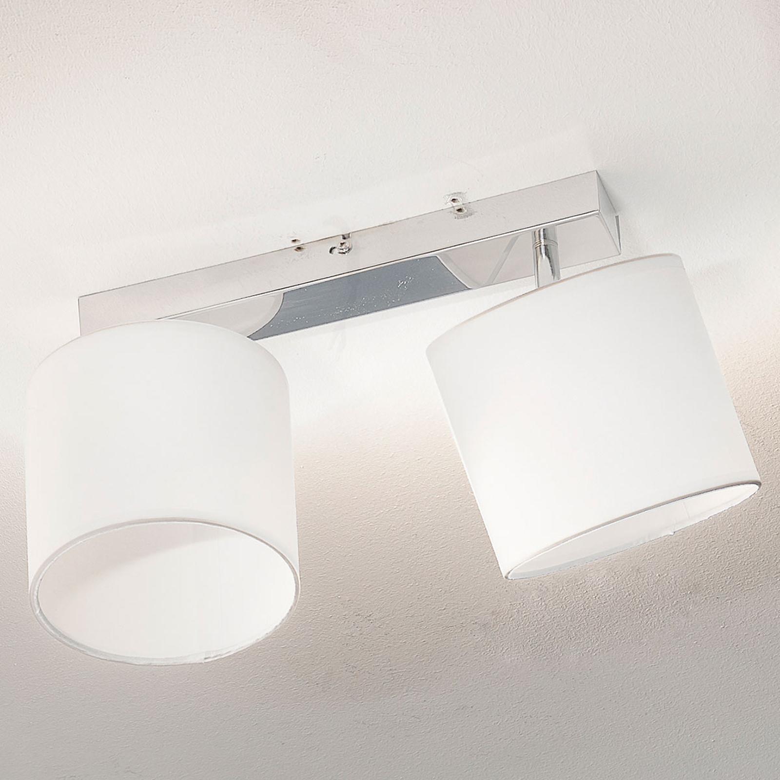 Atractiva lámpara de techo Sandra de 2 llamas