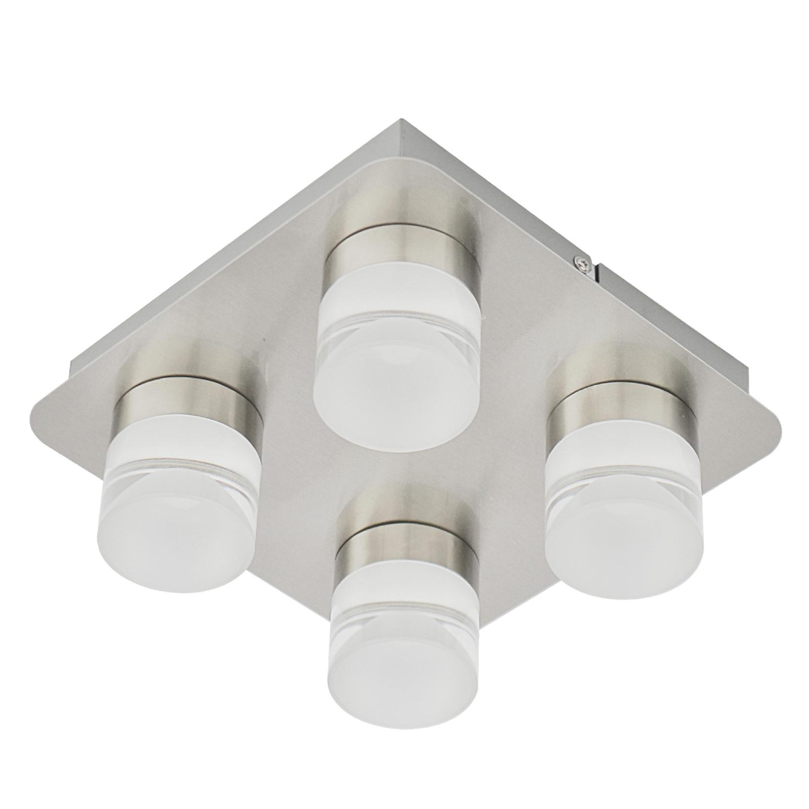 Plafonnier Stefanie avec quatre lampes LED