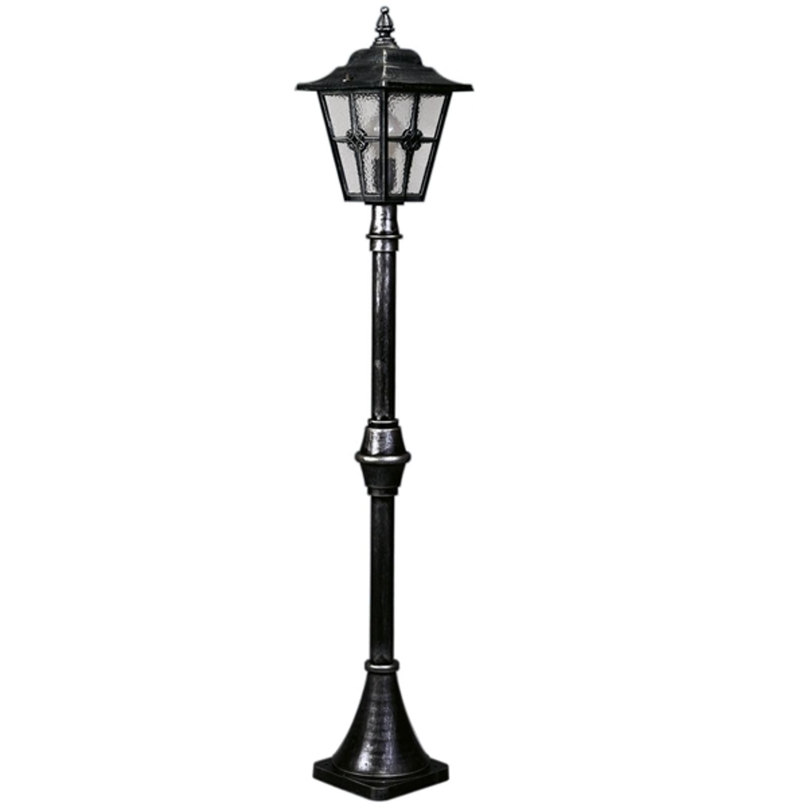 Stožárové svítidlo 772 ve venkovském stylu, černá