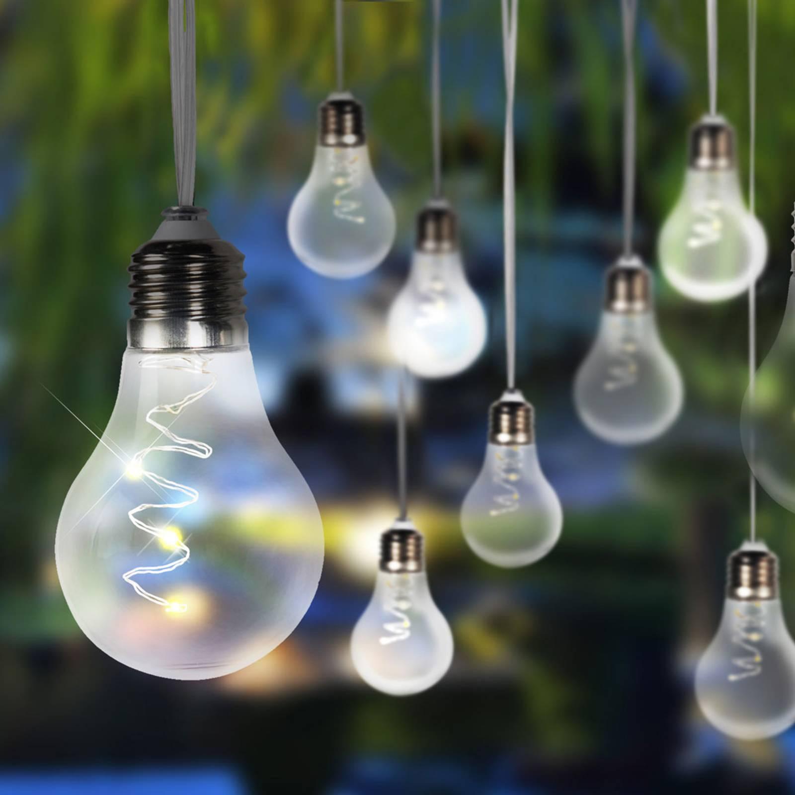 Solarny łańcuch świetlny LED 33708-10 srebrny