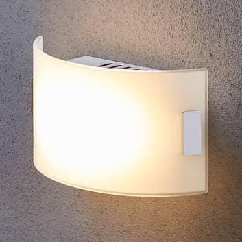 Applique en verre blanche Gisela avec LED