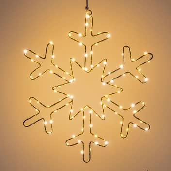 LED-dekorasjonsbelysning gullsnøfnugg