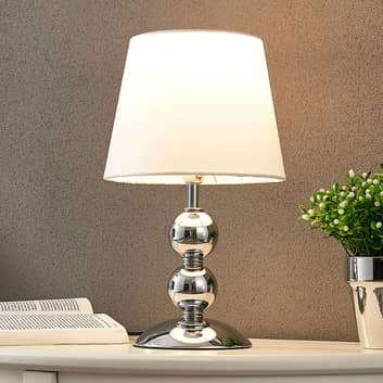 Elegant LED-bordslampa Minna i satin-look