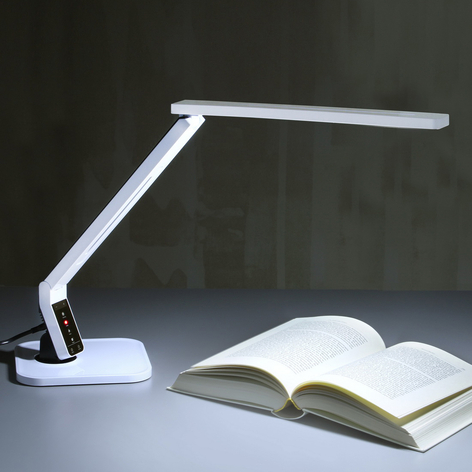 Bardzo nowoczesna lampka na biurko LED Eleni biala