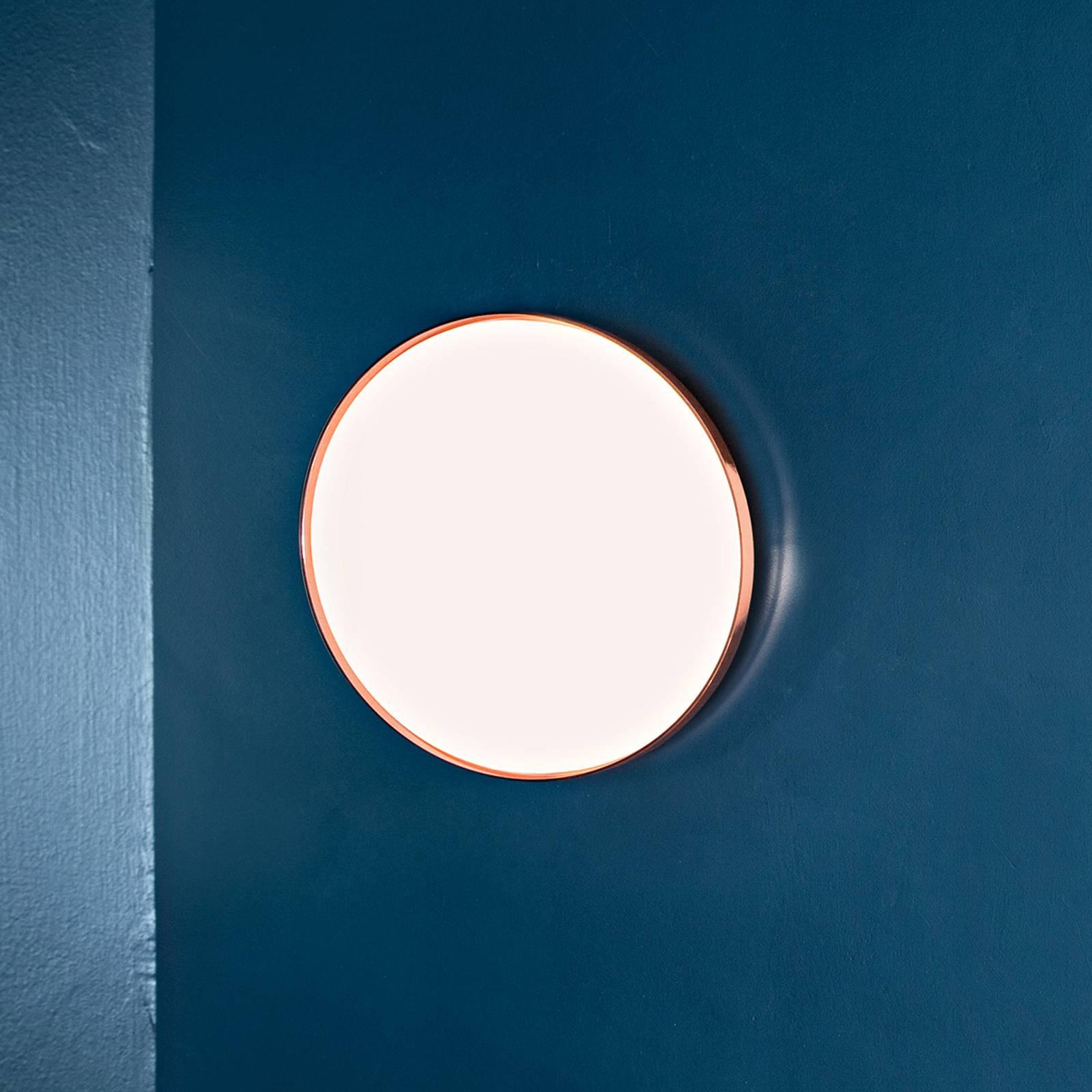FLOS Clara - LED-Wandleuchte mit Kupferring