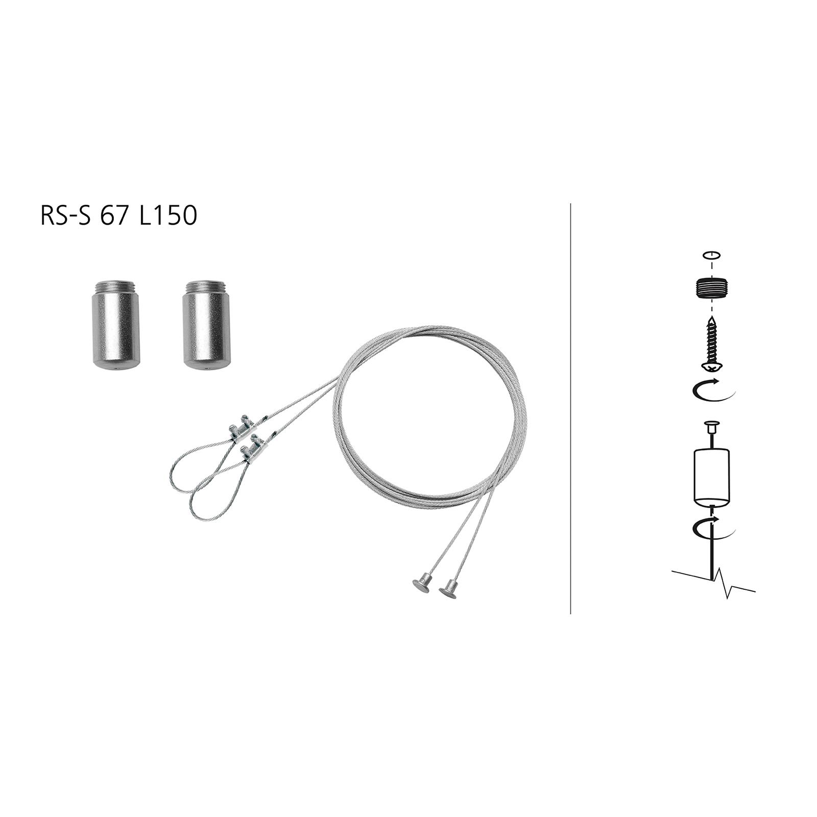 Tauopphengsystem for våtromslampe Oria II