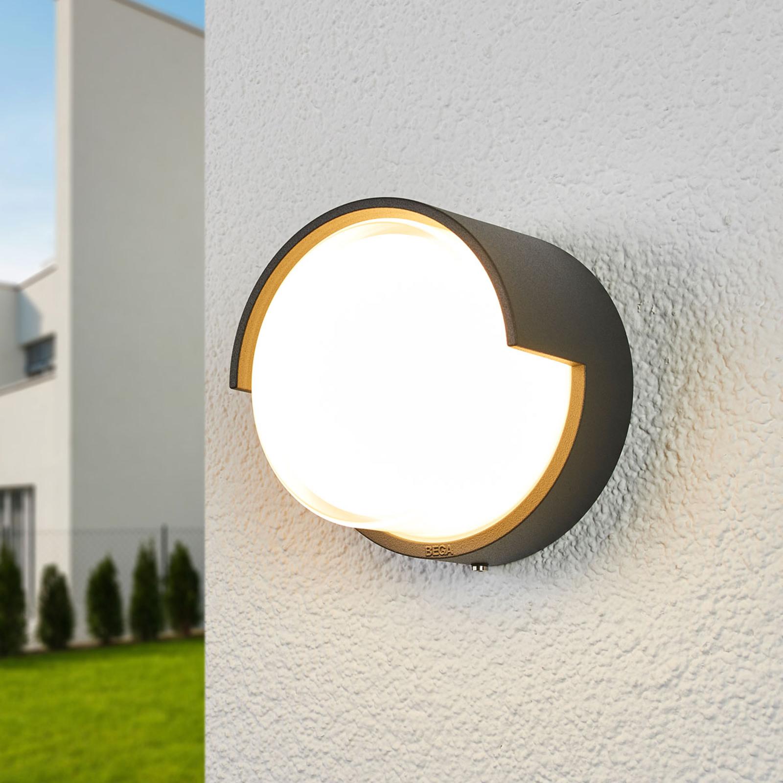 BEGA 33507K3 LED buitenwandlamp grafiet 3000K