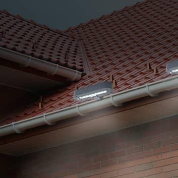 Lámpara solar decorativa LED canalón 5249216, 2 ud