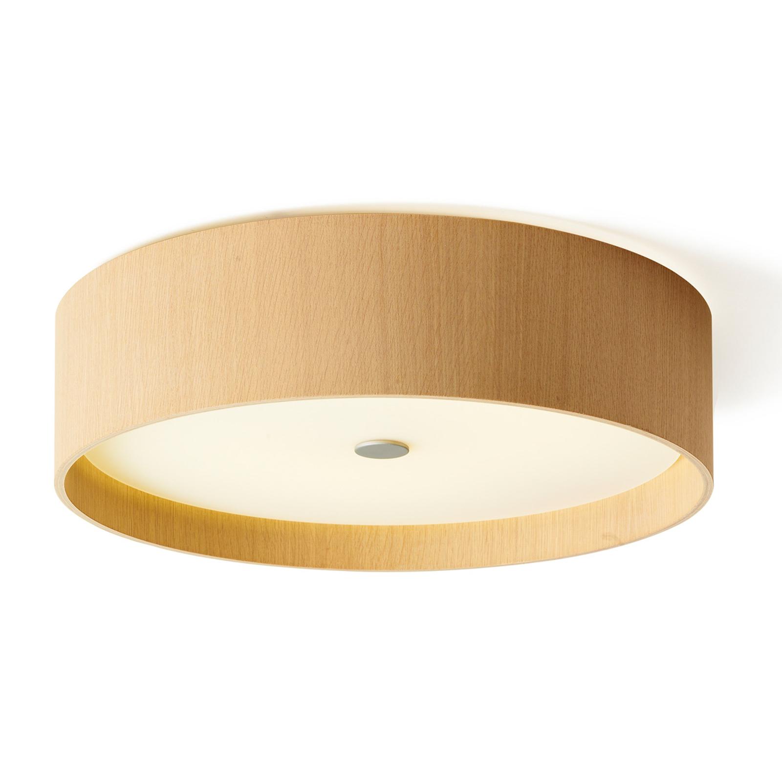 Dřevěné stropní svítidlo Lara wood s LED 43 cm