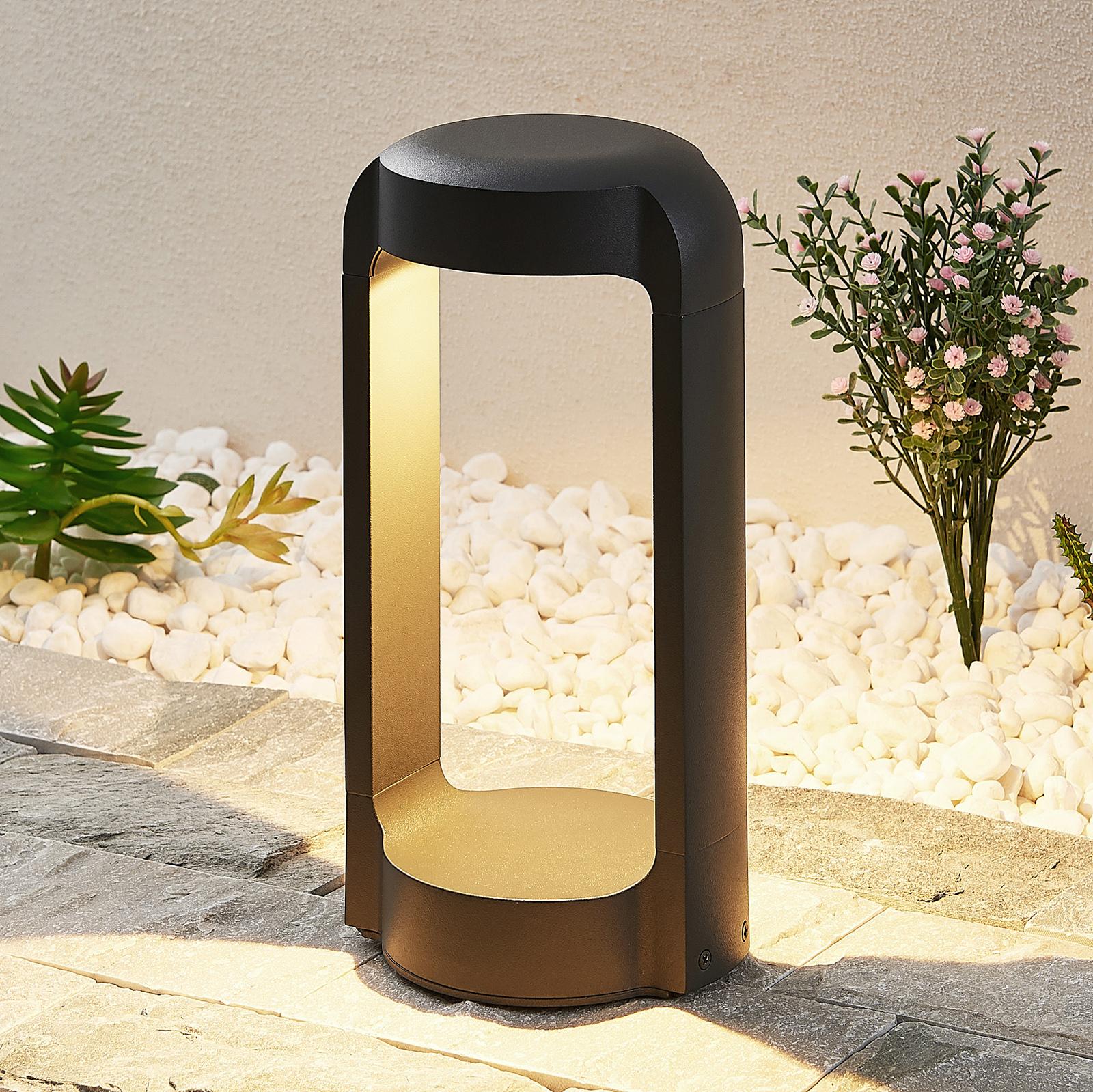 Lucande Habsa LED-Sockelleuchte, Höhe 30 cm