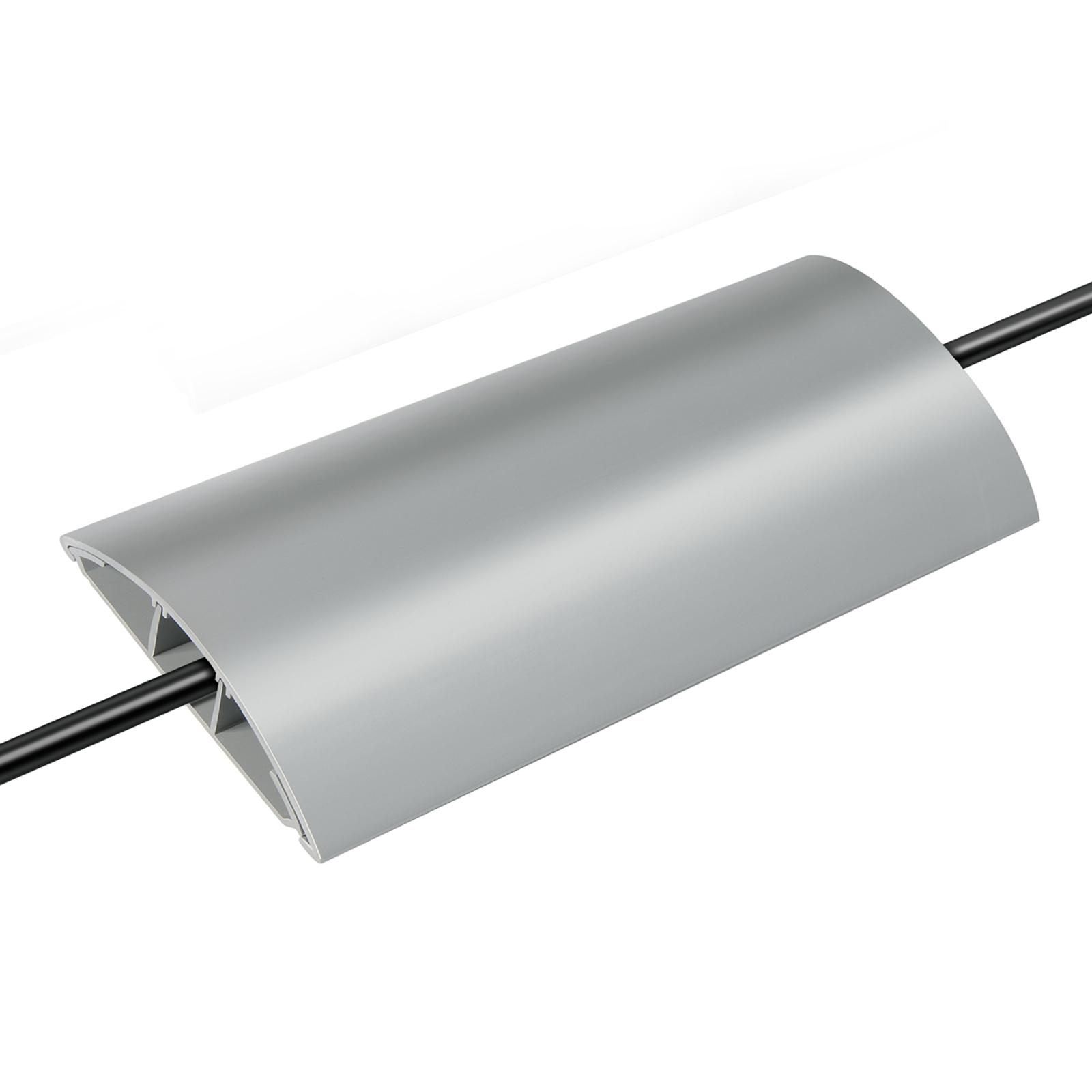 Robusto canale per cavi in PVC, calpestabile