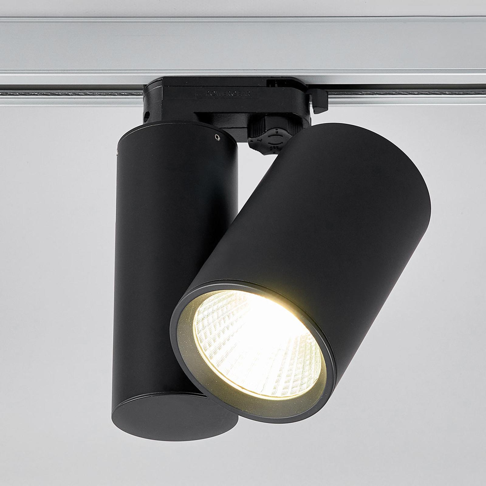 Czarny reflektor LED Giol do systemów szynowych