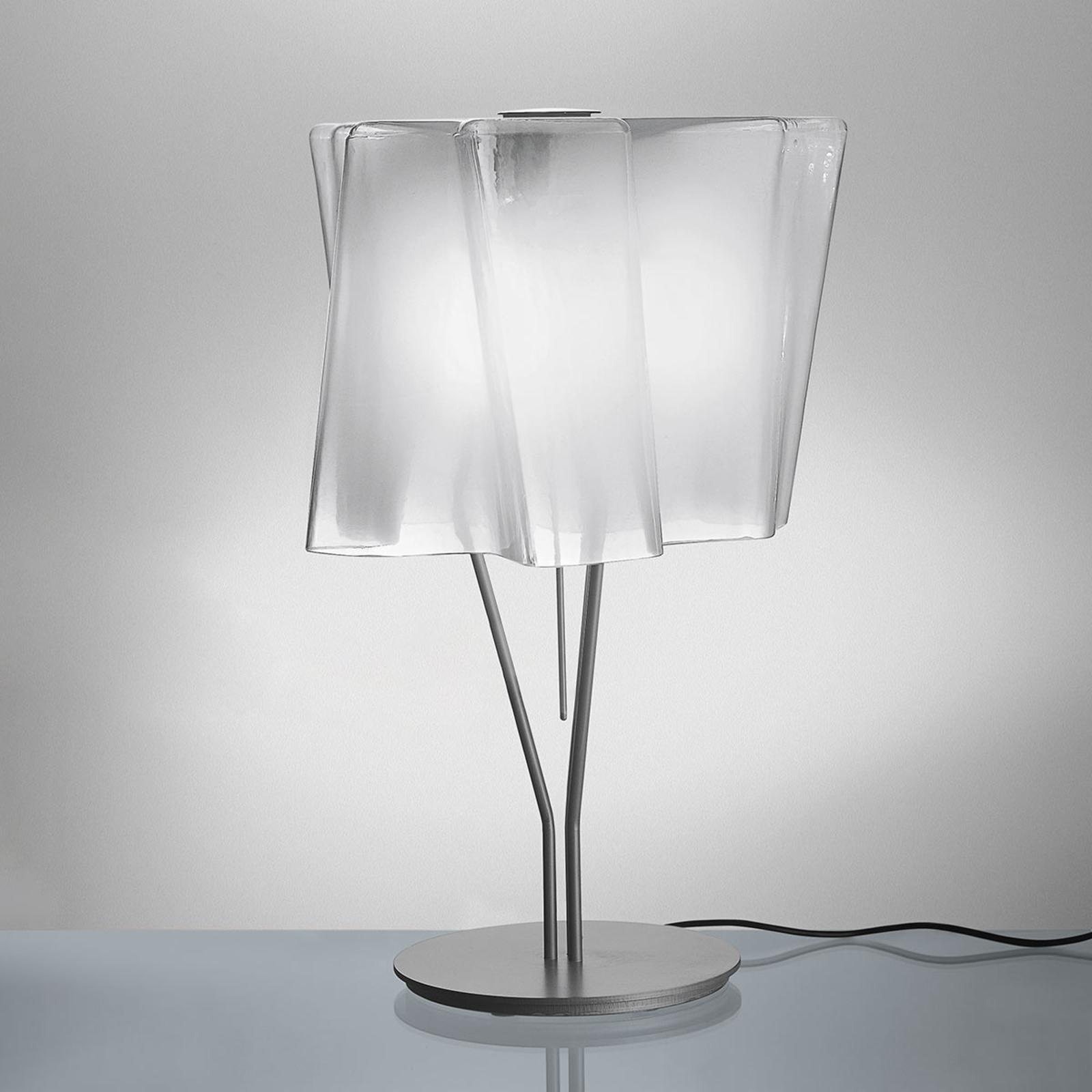 Artemide Logico Tischlampe 44 cm seidenglanz/alu
