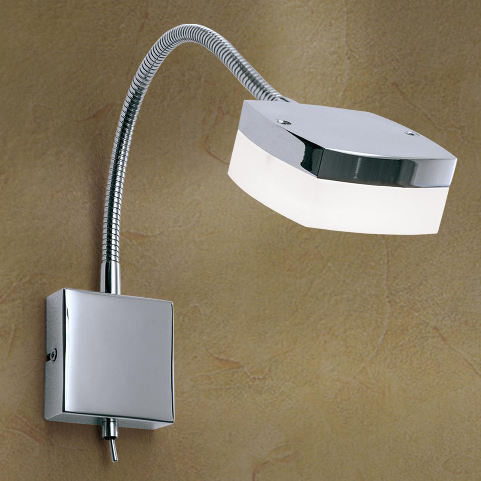 LED-vegglampe Narek med svanehals