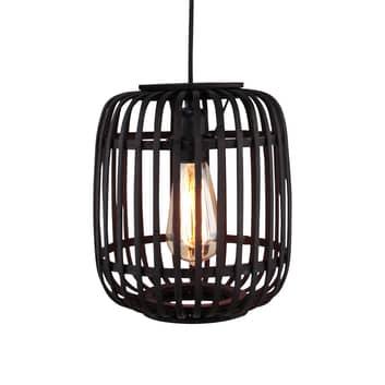 Lámpara colgante Woodrow pantalla de jaula, bambú