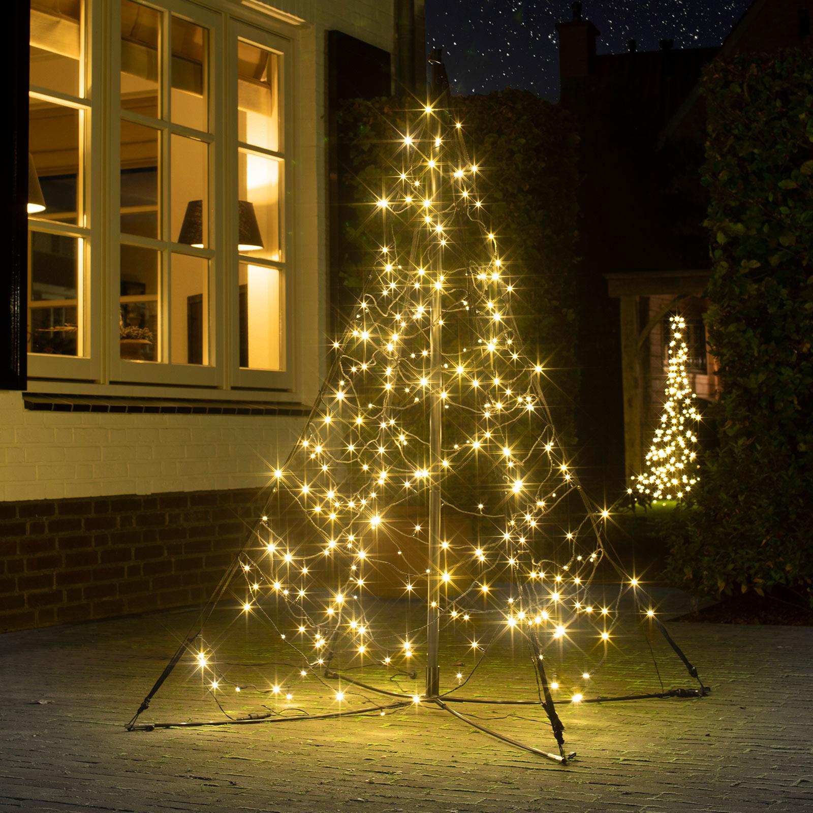 Fairybell juletre med mast, 240 LED-lys, 150 cm